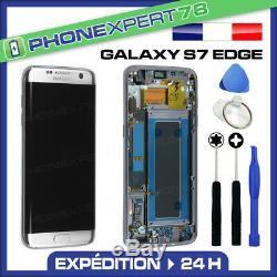 Vitre Tactile Ecran LCD Original Sur Chassis Samsung Galaxy S7 Edge Argent G935