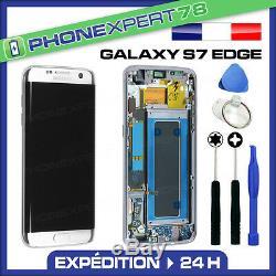 Vitre Tactile + Ecran LCD Original Sur Chassis Samsung Galaxy S7 Edge Blanc G935