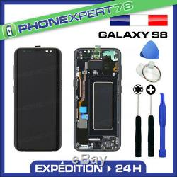 Vitre Tactile Ecran LCD Original Sur Chassis Samsung Galaxy S8 Noir G950