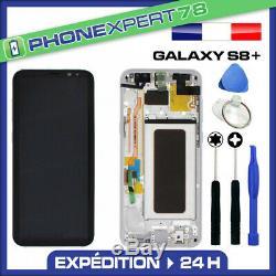 Vitre Tactile Ecran LCD Original Sur Chassis Samsung Galaxy S8 Plus Argent G955
