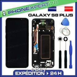 Vitre Tactile Ecran LCD Original Sur Chassis Samsung Galaxy S8 Plus Noir G955