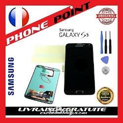 Vitre Tactile Galaxy S5 Original + Ecran LCD Noir G900/g901 + Outils