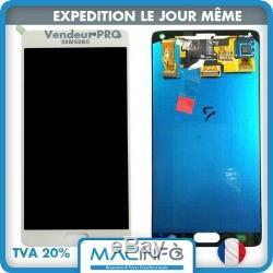 Vitre tactile blanc + ecran LCD assemblé original Samsung Galaxy Note 4 SM-N910